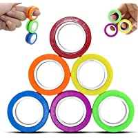 Magnet Fidget Spinners Fidget Toys, Magnetic Rings, Stress Relief Toys, Professional Colorful Finger Fidget Spinner…