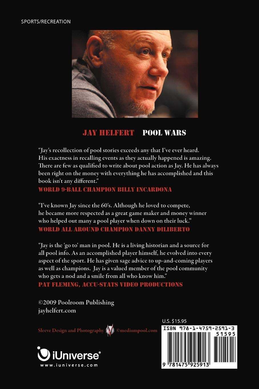 Pool Wars: On the Road to Hell and Back with the World's Greatest Money Players: Jay Helfert: 9781475925913: Amazon.com: Books