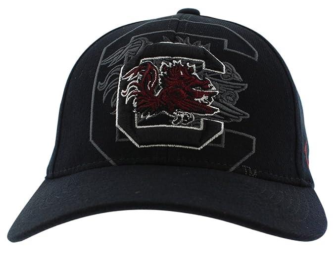 hot sale online 08a12 459b3 Zephyr Mens South Carolina Gamecocks College Covert Custom Stretch Hat  Black S M