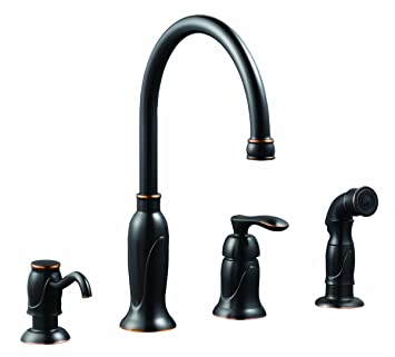Charmant Design House 525790 Madison Kitchen Faucet With Sprayer And Soap Dispenser,  Oil Rubbed Bronze