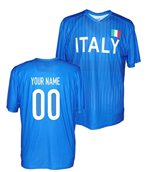 10ef70a41740 Amazon.com   Custom Italy Jersey - Any Name   Number   Sports   Outdoors