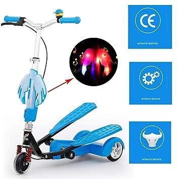 TOOMD Scooter de Patinaje en Tres Ruedas para niños, manijas ajustablesSpeeder con alas niños de