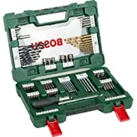 Bosch 91-Piece V-Line Titanium Drill Bit and Screwdriver Bit Set with Ratcheting Screwdriver (For Wood, Masonry, and…