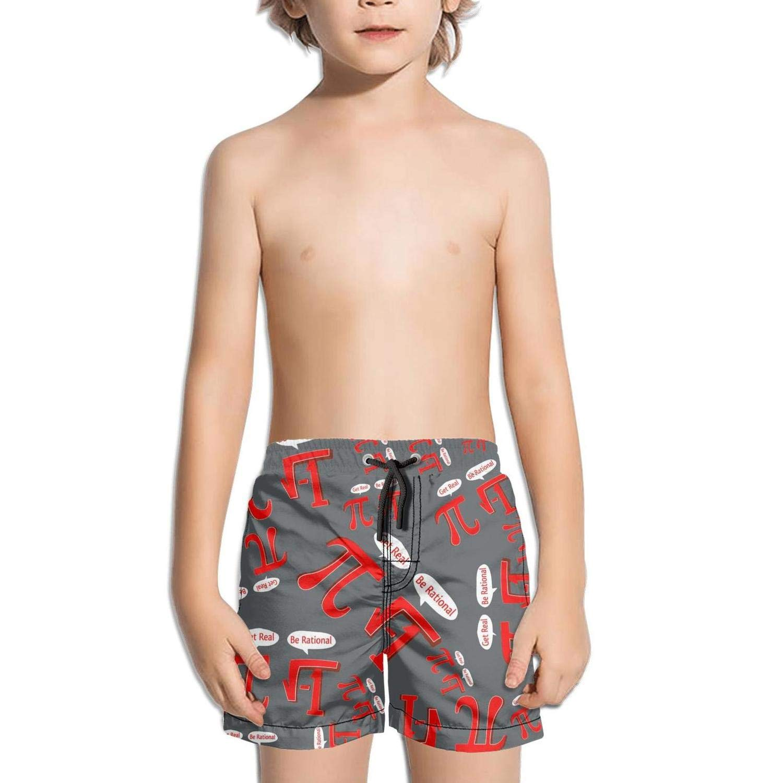 Ouxioaz Boys Swim Trunk Get Real Be Rational Humor Math Beach Board Shorts