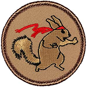 "Ninja Squirrel Patrol Patch - 2"" Round!"