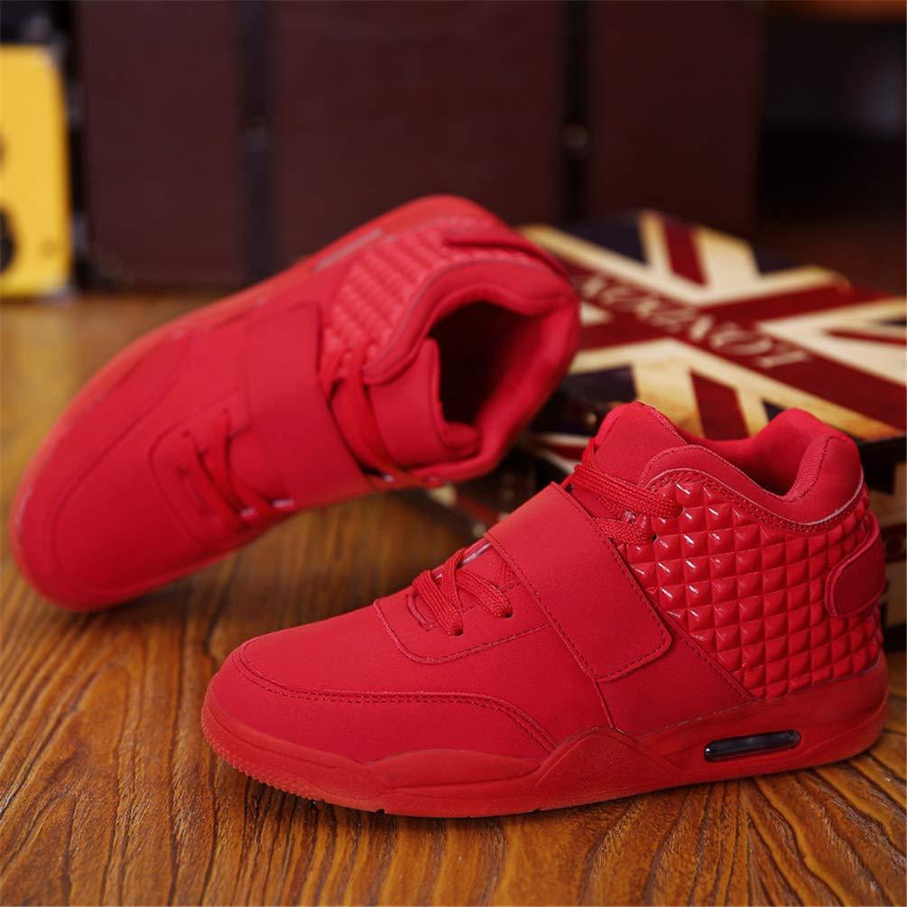 Herren Turnschuhe Turnschuhe Turnschuhe Rutschfeste Stiefel Studenten Freizeit Lace-Up Sport Basketball Schuhe (Farbe   Rot, Größe   7 UK) 92d4d2