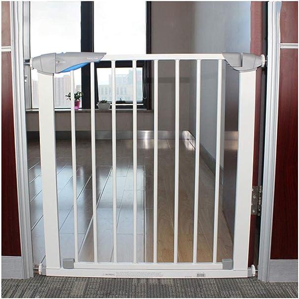 WSQAQM7 Puerta de Aislamiento for Mascotas, Valla de Seguridad for niños.Puñetazo Gratis.Escalera balcón Puerta de Aislamiento de Seguridad, Cierre automático Barrera de Seguridad (Color : 77cm-82cm): Amazon.es: Hogar