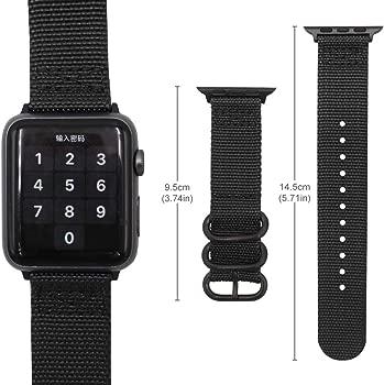 Gemony Apple Correa de Reloj 38mm 42mm Hombres Mujeres Nylon Reemplazo Correa de muñeca Resistente NATO Loop Buckle Compatible Apple iWatch Series 4 3 ...