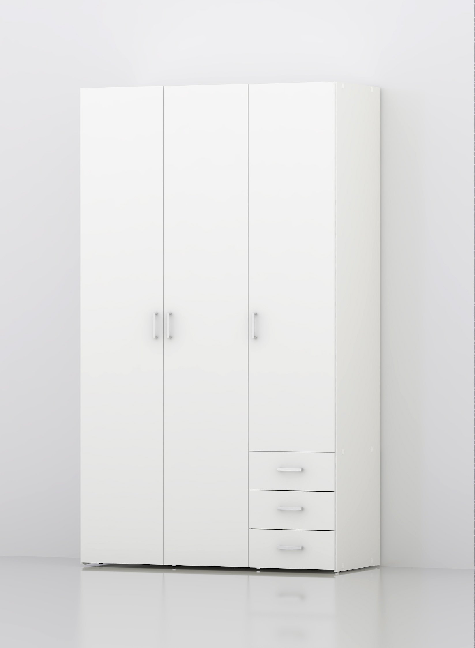 Tvilum 704094949 Space 3 Drawer and and 3 Door Wardrobe, White by Tvilum (Image #2)