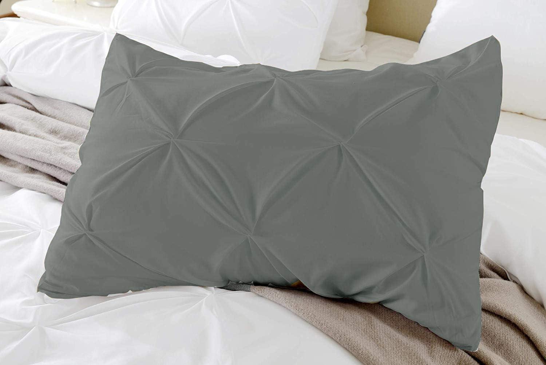 Standard Pillow Shams Set of 2 PC Pinch Pleated Black Pillow Shams Standard 20x26 Pillow Sham Covers 600 TC 100/% Egyptian Cotton Hotel Class Bedding Pinch Decorative Standard Size Pillow Shams Set