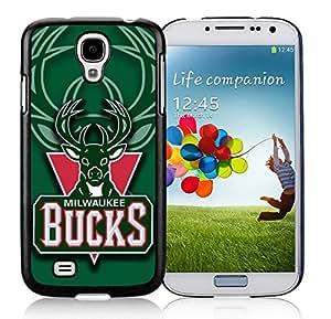 New Custom Design Cover Case For Samsung Galaxy S4 I9500 i337 M919 i545 r970 l720 Milwaukee Bucks 1 Black Phone Case