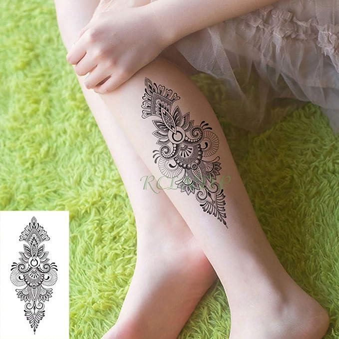 ljmljm 4 Piezas Impermeable Tatuaje Pegatina Diamante Flor corazón ...