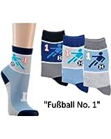 12 Paar Kinder Socken Motiv Fußball Gr. 23-42