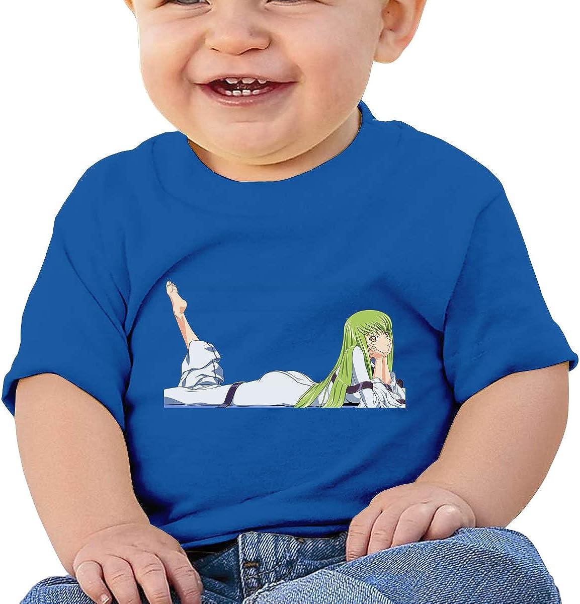 Honshang CC Code Geass Cute Black Tshirts for Toddler T-Shirt
