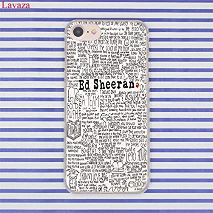 Black White Ed Sheeran Iphone 6 Case Song Lyrics Collage 6s Cover