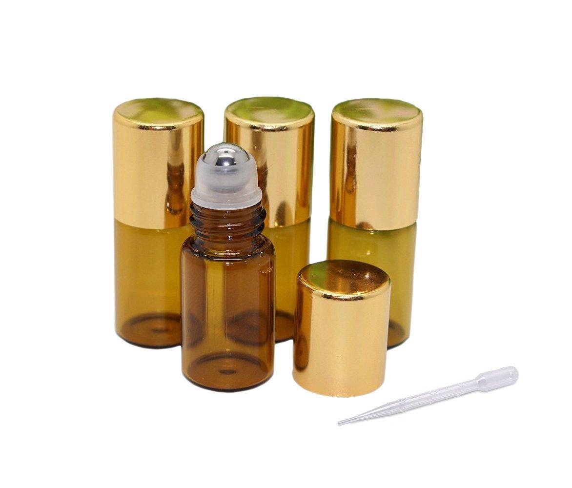 激安正規品 10パック3 10パック3 mlアンバーガラスEssential B01LZIWNY3 Oilローラーボトル詰め替え可能空メタルローラーボールRoll OnボトルのアロマセラピーオイルローションPerfumeリップクリーム B01LZIWNY3, WINCLE:815508e8 --- egreensolutions.ca