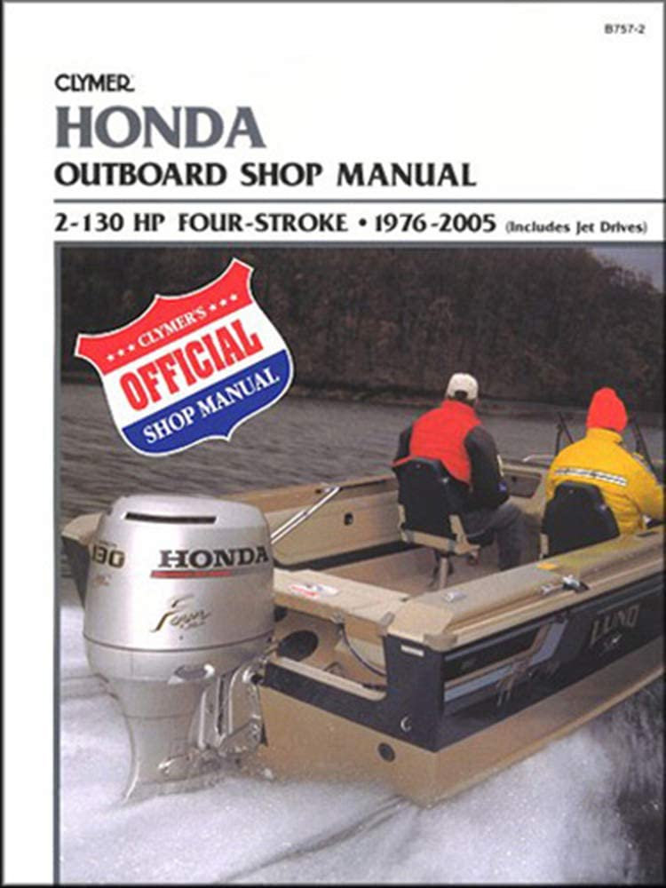 Clymer Honda 2-130 HP Four-Stroke Outboards (Includes Jet Drives) 1976-2005 (B7572) (43685)