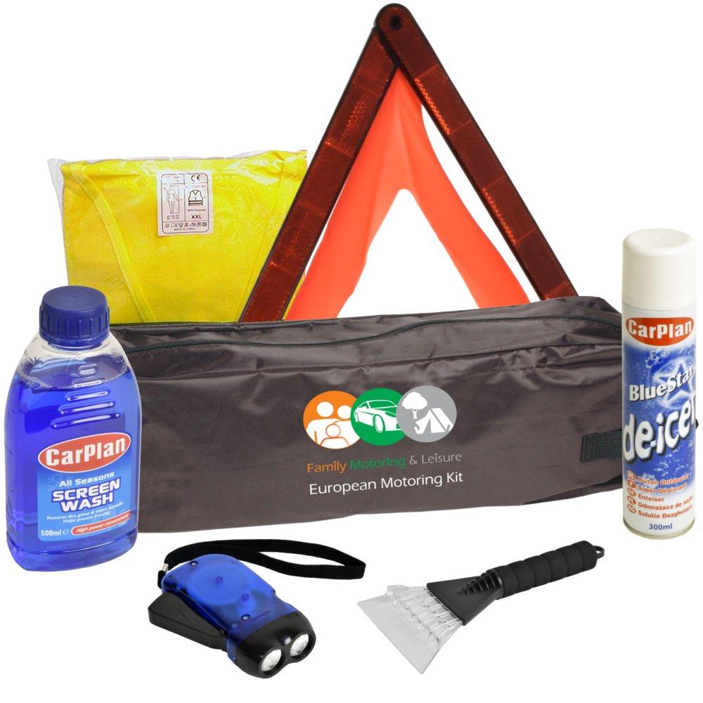 Road Safety Kit Breakdown Winter Kit De Icer Warning Triangle Travel Car Kit Family Motoring & Leisure