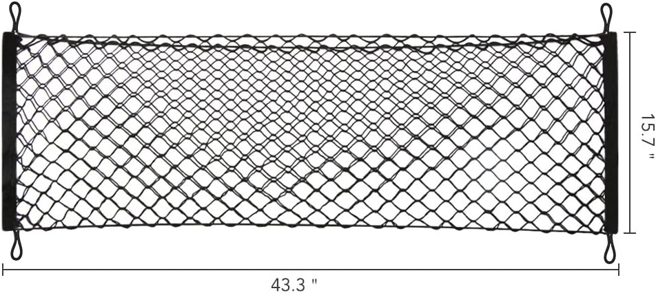90 CM Heavy Duty Truck Bed Cargo Net with 4x4 Mesh Netting and 12pcs Plastic Hooks INHEMI Bungee Cargo Net for Truck Bed 120