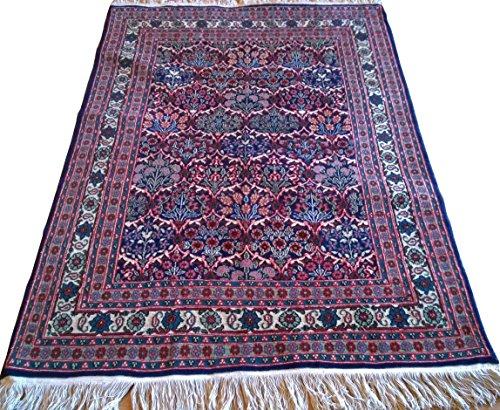 Handwoven Turkish Hereke Carpet Area Rug 3.96 x 5.74 ft.