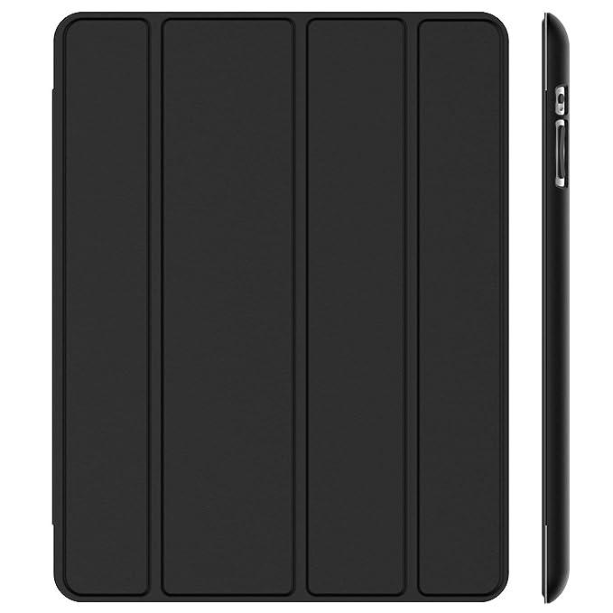 JETech Hülle für iPad 4, iPad 3 und iPad 2, Schutzhülle mit Ständer Funktion und Auto Schlaf/Wachen, Schwarz