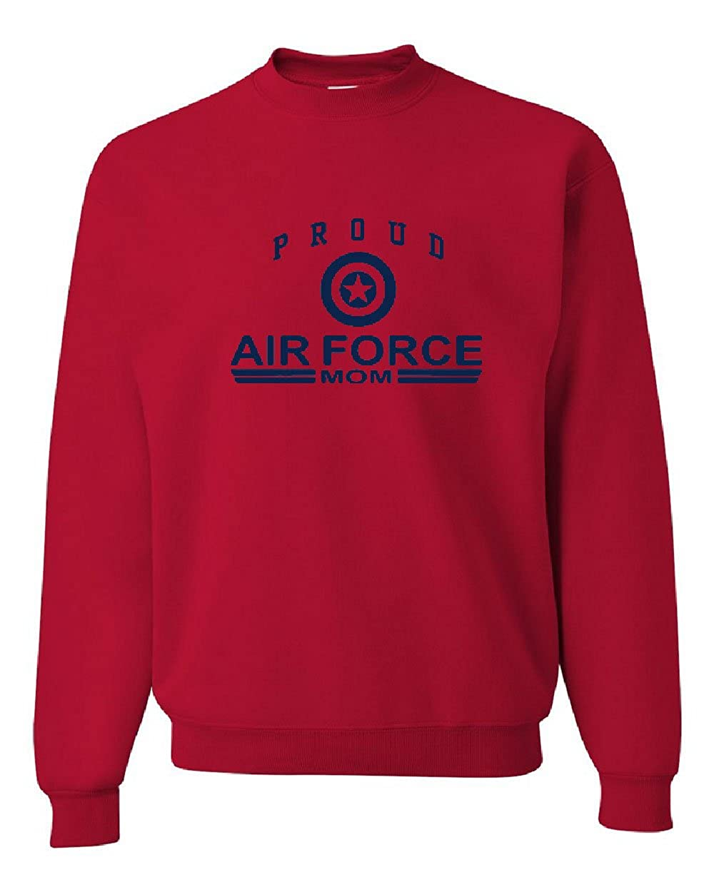 Tee Hunt Proud Air Force Mom Crew Neck Sweatshirt Air Force Military
