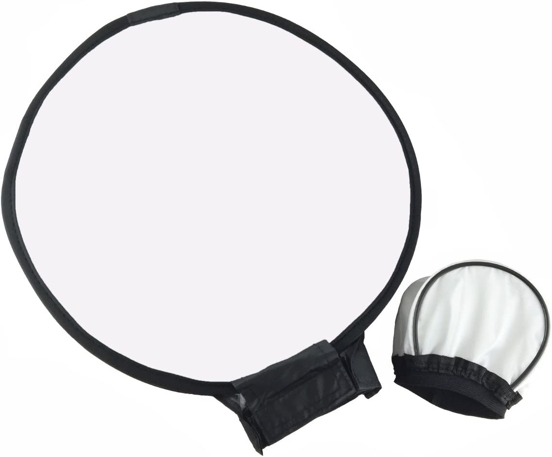 EXMAX/® 11.8inches//30cm Collapsible Round Softbox Diffuser with a carring Bag and 3.5x2.4inches Universal Soft Mini Bounce Diffuser Cap for Canon Nikon Sony Yongnuo Speedlight