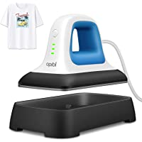 """Oprol Heat Press, 7"""" x 3.8"""" Heat Press Machine for T Shirts Shoes Bags Hats and Small HTV Vinyl Projects, Portable Mini…"""