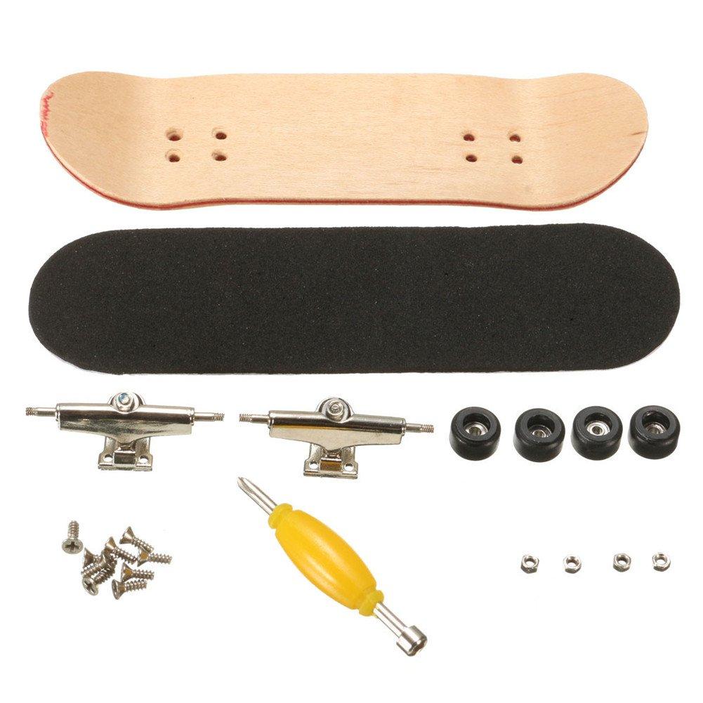 Mini Diapasón, Patineta de Dedos Profesional Maple Wood DIY Assembly Skate Boarding Toy Juegos de Deportes Regalo de Navidad Para Niños (Negro)