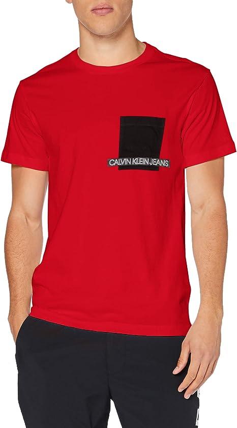 TALLA XL. Calvin Klein Instit Contrast Pocket tee Camisa para Hombre