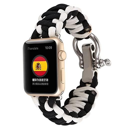 Amazon.com: Marrivoe New Nylon Rope Survival Bracelet Watch ...