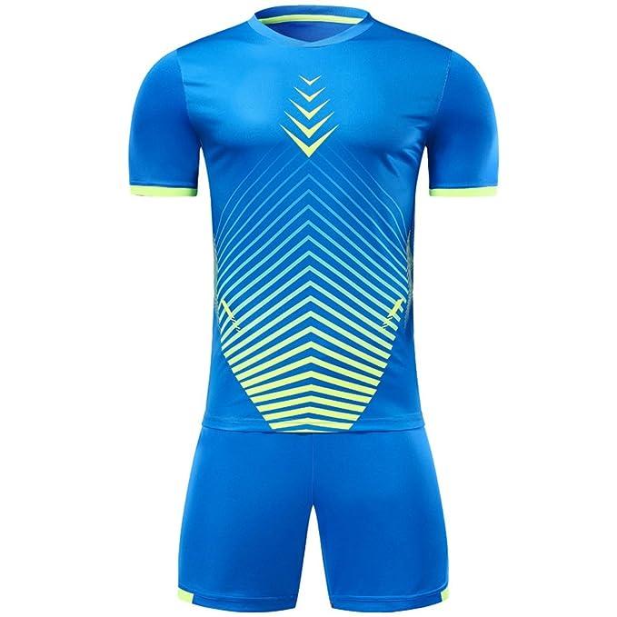 XFentech Ropa Deportiva de Entrenamiento de fútbol, Camiseta de fútbol + Pantalones Cortos de fútbol, Uniforme de fútbol para Hombres y niños: Amazon.es: ...