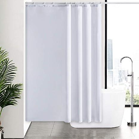 Modern Luxury Waterproof Bathroom Hotel Shower Curtain With 12 Hooks 180x180cm