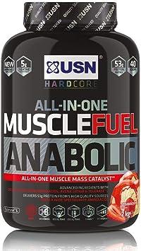 USN Muscle Fuel Anabolic Batido para Suplementos Strawberry - 2000 gr