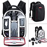 Camera Backpack, Beschoi Waterproof Lightweight DSLR Camera Bag for Canon Nikon Sony DSLR Camera, Speedlite Flash, Tripod, Camera Lens and Accessories, Size 13 x 9.8 x 5.5''