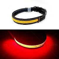 Toozey LED Luminoso Collar para Perros, Longitud Ajustable/Recargable por USB/Impermeable Nylon Luminoso Collar para…