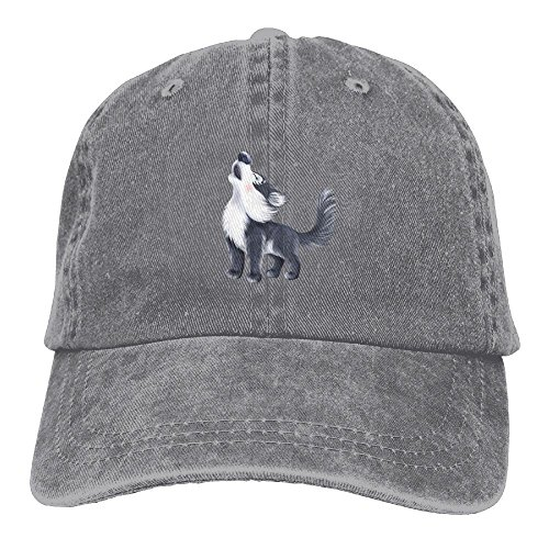 Adult Wolf Siberian Husky Dog Sports Adjustable Structured Baseball Cowboy Hat