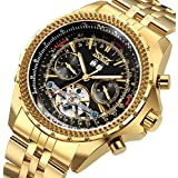 GuTe Men's Automatic Watch,Luxury Gold Tone...