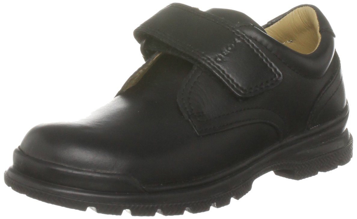 Geox William 1 Uniform Velcro Shoe (Toddler/Little Kid/Big Kid),Black Slip-On,38 EU (5.5 M US Big Kid)