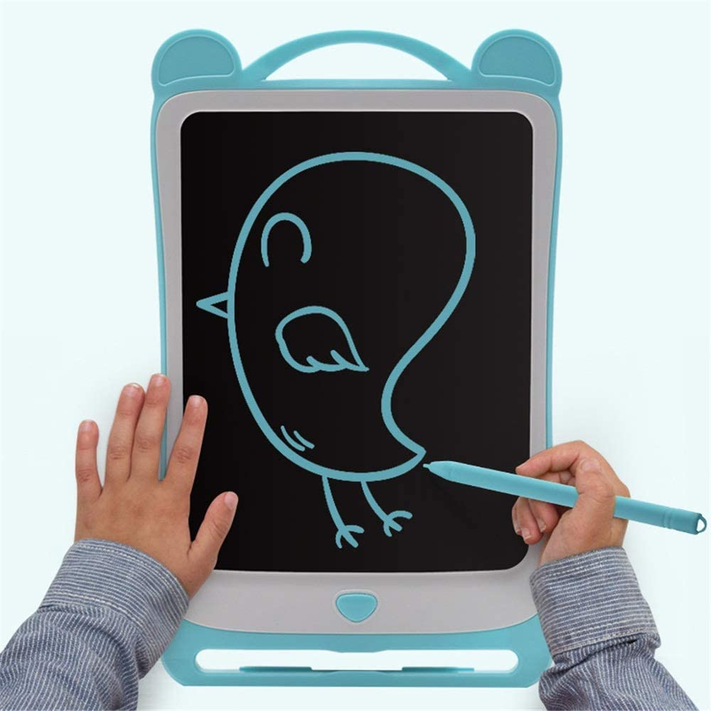 Oureong LCD Writing Tablet 3 Pcs 8.5 Inches Electronic Portable Painting Board Intelligent Dust-Free Light Painting Toy for Kids Home School Office Color : Blue, Size : 8.5 inches