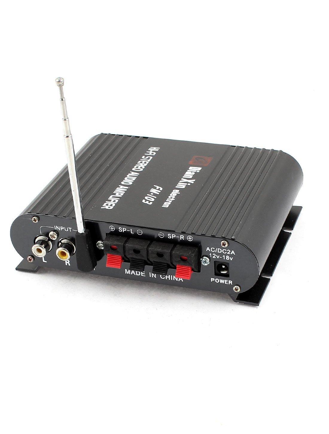 Amazon.com: Automóvil Presione el botón del interruptor de Control del amplificador de 200W 2Cr: Car Electronics