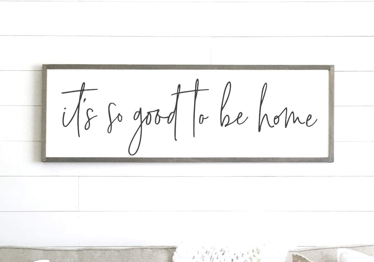 EricauBird Wall Decor its so Good to be Home Sign Wood Framed Sign Home Decor Wall Art Farmhouse Sign Farmhouse Decor, Wall Plaques Art, Rustic Signs with Sayings, 12x22