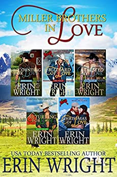 Miller Brothers in Love: A Long Valley Western Romance Boxset – Books 1 – 5 by [Wright, Erin]