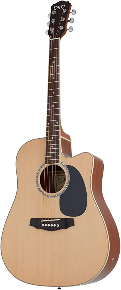 Bird DG1 Natural Guitarra Acústica/Folk Clair, natural: Amazon.es ...