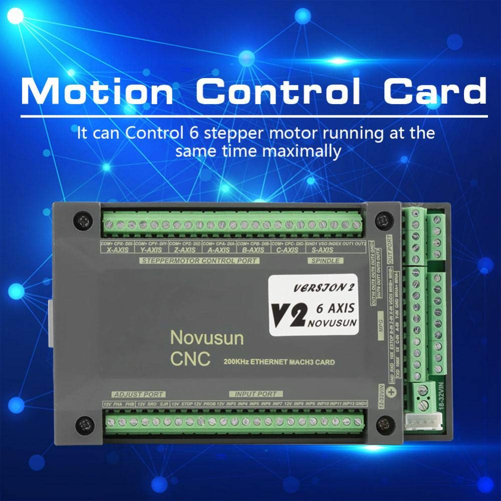 Hilitand MACH3 Motion Control Card NVEM CNC Controller 6 Axis MACH3 Ethernet Interface Motion Control Card Board for CNC Engraving by Hilitand (Image #6)