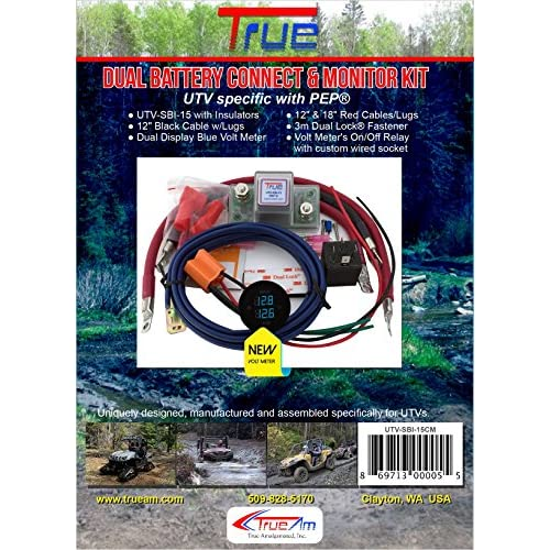 true utv sbi 15cm utv dual battery connect monitor kit chic test rh test lifegenmon si