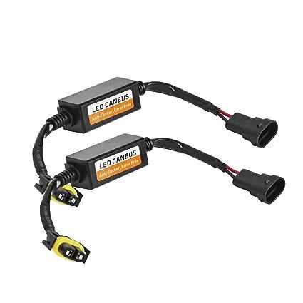 Eyourlife 2 Pcs Libre Error Canbus de LED Faro Resistencia Intermitente LED Coche Bombilla Adaptador de