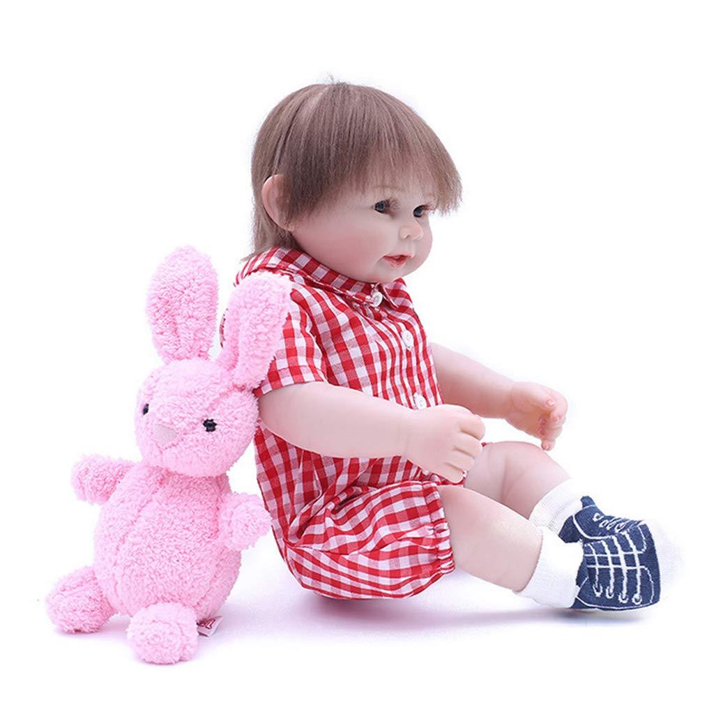 FLAMEER 48cm Niedliche Neugeborenes Babypuppe, Funktions-Baby-Puppe, inklusive viele Zubehör -  A