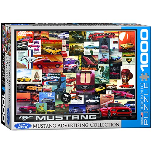 EuroGraphics Ford Mustang Vintage Ads Jigsaw Puzzle (1000 Piece)