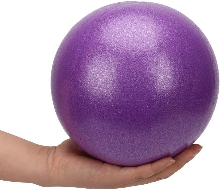 9 pelotas de ejercicio pilates estabilidad 2 unidades para el hogar terapia de equilibrio entrenamiento f/ísico entrenamiento con popote inflable XIECCX Mini pelotas de yoga